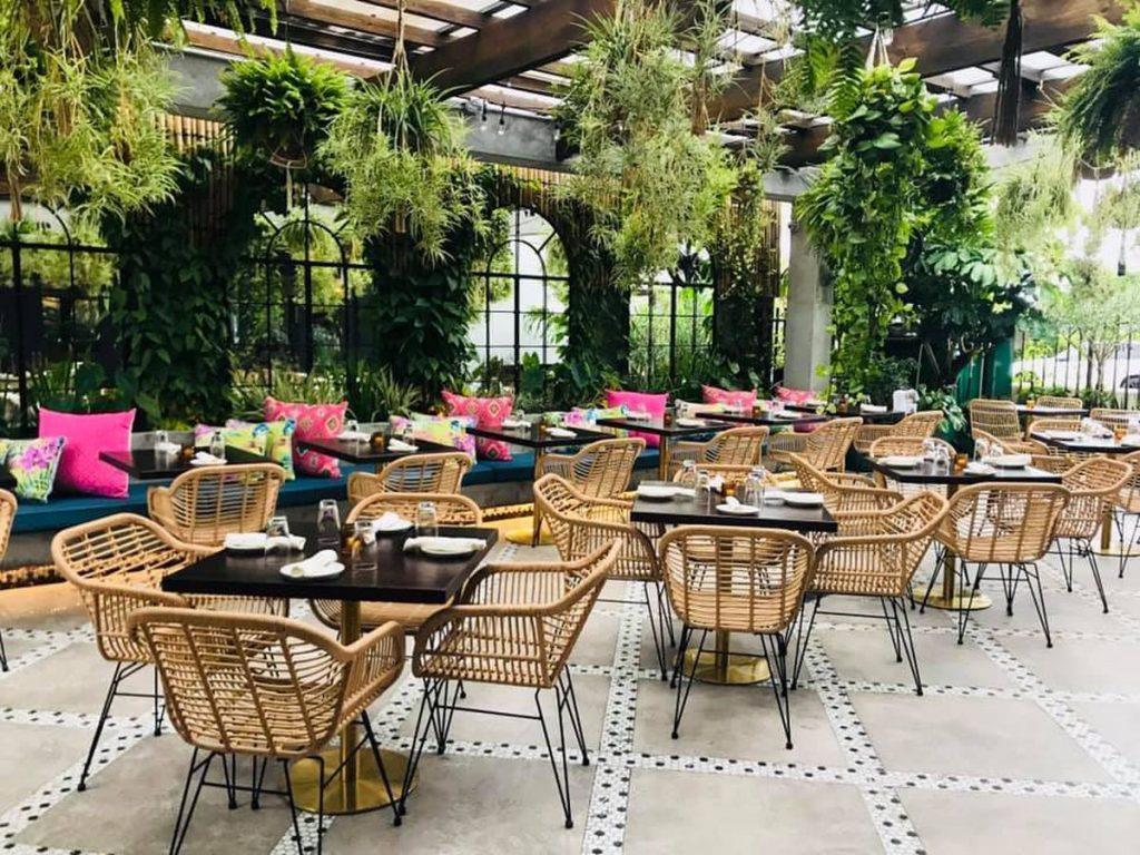 Restaurant Hanging Baskets - Greenhouse to Garden